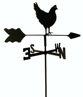 TLS1025IN Hen Chicken Garden Style inground Weathervane
