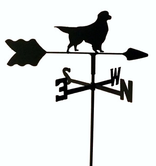 TLS1024IN Golden Retriever Garden Style inground Weathervane