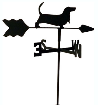 TLS1004IN Basset Hound Garden Style inground Weathervane
