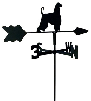 TLS1001IN Afghan Hound Garden Style inground Weathervane
