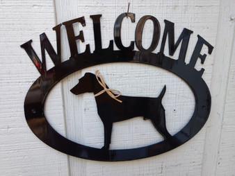 Jack Russel Terrier Welcome Sign
