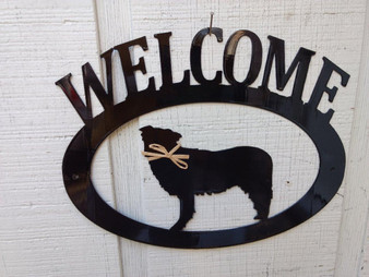 Australian Shepherd Welcome Sign