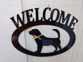 Blood Hound Welcome Sign