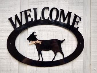 Goat Welcome Sign