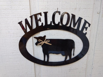 Cow Welcome Sign