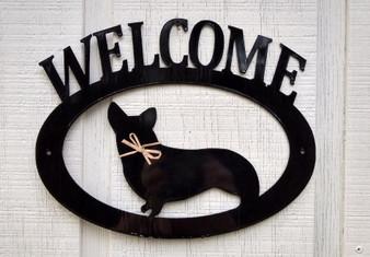 Pembroke Welsh Corgi Welcome Sign