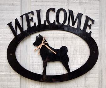 Shiba Inu Welcome Sign