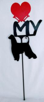 Afghan Hound Love(heart) Yard Sign Metal Silhouette