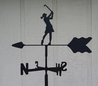 Female Golfer Roof Mount Weathervane