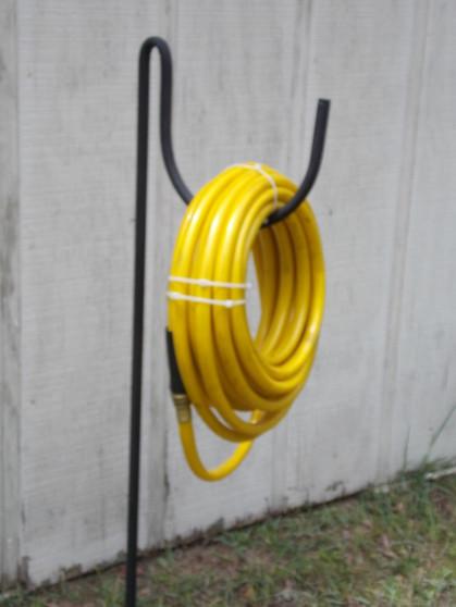 garden hose holder galvanized tube won't rust holds 200' of hose