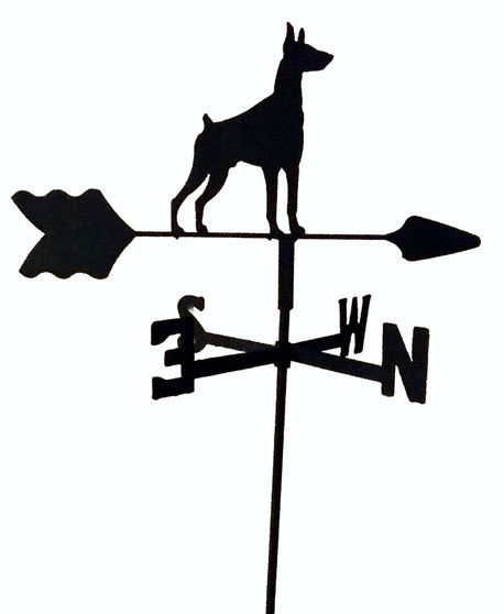 TLS1049IN Doberman Garden Style inground Weathervane