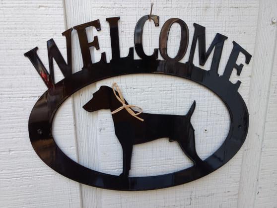 Jack Russel Terrier Welcome Sign