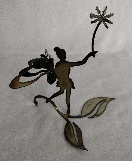Fairy Tinkerbell Handcrafted Metal Figure