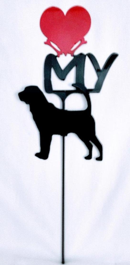 Bloodhound Metal Dog Silhouette