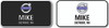 Volvo Rectangle Name Badge Combination Pack 1 White & 1 Black Badge