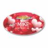 Valentine Oval Name Badge 001