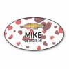 Valentine Oval Name Badge 003