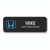 "Honda 3.50"" x 1.25""  Black Name Badge"
