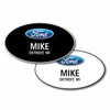 Ford Oval Name Badge Combination Pack (1 Black Badge & 1 White Badge)