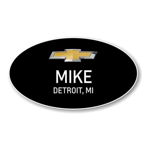 Chevrolet Black Oval Name Badges
