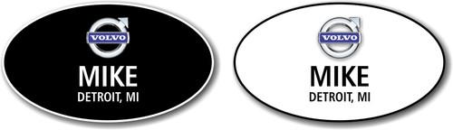 Volvo Oval Name Badge Combination Pack 1 White & 1 Black Badge