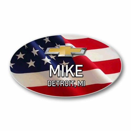 Chevrolet USA Flag Name Badges (Oval)