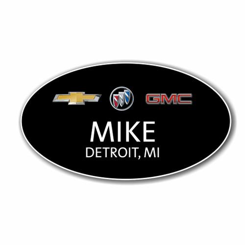 Chevrolet Buick GMC Black Oval Name Badge