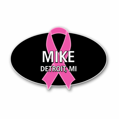 Support Ribbon Name Badge