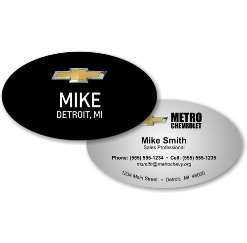 Oval Business Card - FREE SHIPPING