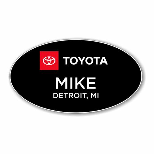 Full Logo Toyota Black Oval Name Badge