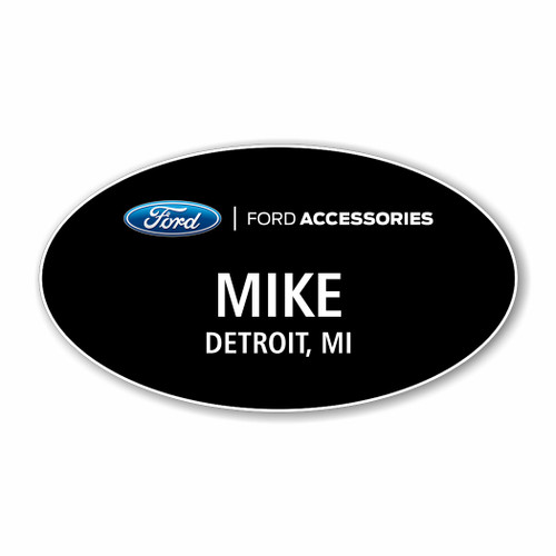 Ford Accessories Black Oval Name Badge