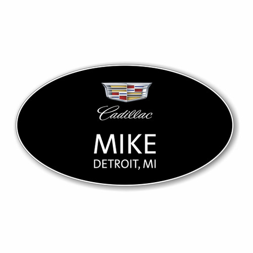 Cadillac Black Oval Name Badge