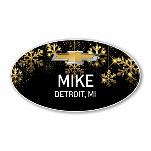 Holiday Oval Name Badge 007