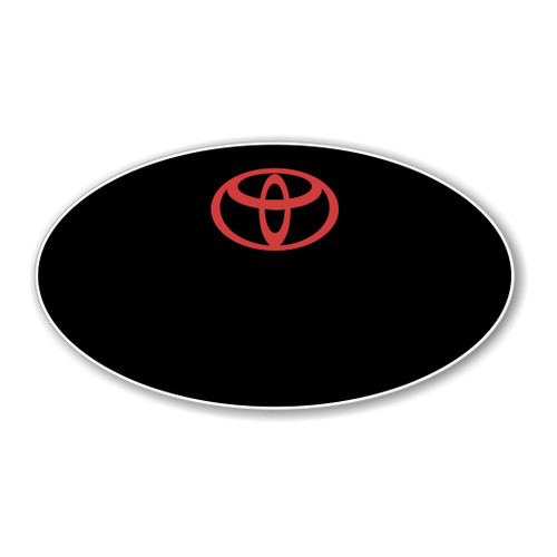 Toyota Black Oval Name Badge Blank - Logo Only