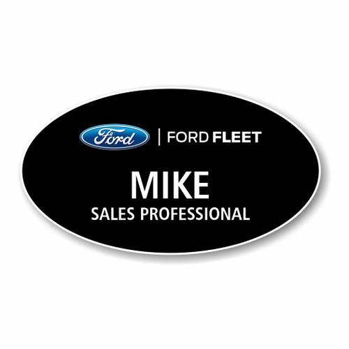 Ford Fleet Black Oval Name Badge