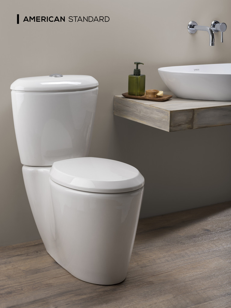 American Standard Elemento 2-Piece Elongated Front Toilet in White (06AMS-01778-1001)