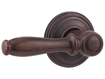 Kwikset 97200-670 Ashfield™ Passage Lever (Closet Lock) in Rustic Bronze 4KW-97200-670