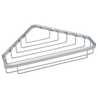 "6-1/4' x 9-1/4"" Large Corner Caddy in Bright Stainless Steel 08LI-B9791"