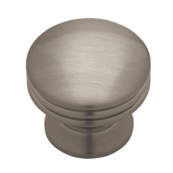 "1-1/8"" Solid Brass Wide Base Knob in Brushed Nickel Plate 34LI-PN0830C-BNP-C"