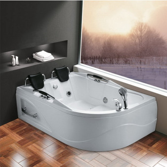 Two Person Whirlpool Bathtub in White