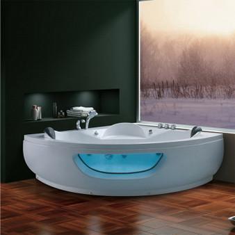 Corner Massage Whirlpool Bathtub