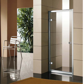 "35"" Framed Shower Door  in Tempered Glass"