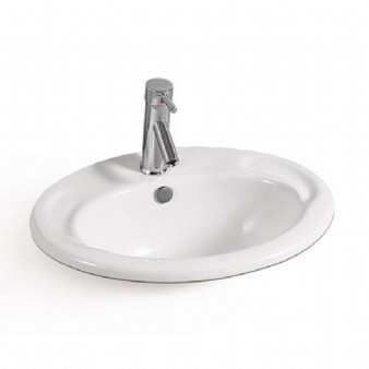 Select Single Hole Drop-in Basin in White 08MUY-MY3603