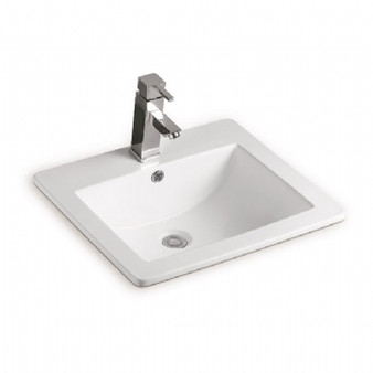 Select Single Hole Drop-in Basin in White 08MUY-MY3612