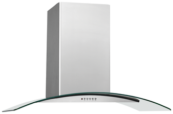 """30"""" Glass Canopy Wall Mount Range Hood In Stainless"""