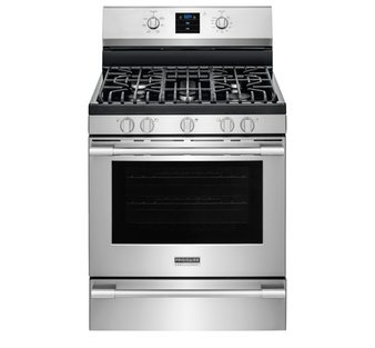 """Professional 30"""" 4 Burner Freestanding Gas Stove in Stainless"""