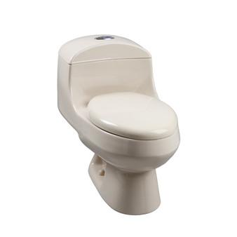 Corona Monte Carlo High Efficiency Dual Flush Elongated Front Toilet in Bone