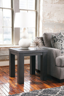 Lamoille Square End Table in Dark Grey