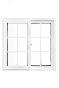 """36""""x 48"""" UPVC Sliding Window with Grids and Mesh"""