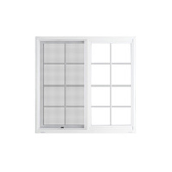 """72""""x 48"""" UPVC Sliding Window with Grids and Mesh"""